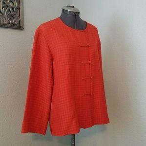 Eileen Fisher silk & linen jacket